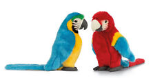 Living Nature Soft Toy - Plush Macaw Bird Parrot Red or Blue (24cm)