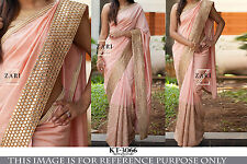 Indian Bollywood traditional designer wedding Partywear saree unstitched blouse