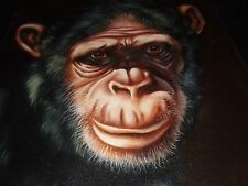 ORIGINAL CHIMPANZEE PAINTING BY GISELE FROM 1976