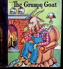 THE GRUMPY GOAT ~ Vintage 1940's Children's Softcover Book James & Jonathan