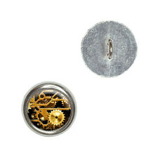 Gears in the Brass Machine - Metal Craft Sewing Novelty Buttons Set of 4