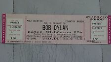 BOB DYLAN Rare Cancelled Prague Palace of Culture ticket stub 10 March 1995