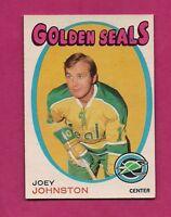 1971-72 OPC # 182 SEALS JOEY JOHNSTON ROOKIE EX-MT  CARD  (INV#3024)