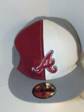 Atlanta Braves sz 8 throwback snapback baseball hat cap MLB gray red 59Fifty