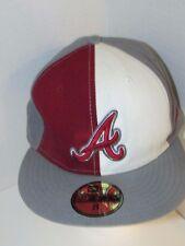 Atlanta Braves sz 8 throwback snapback baseball hat cap MLB gray red 59Fifty