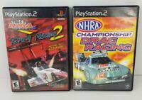 Playstation 2 Game Lot Of 2 Championship Drag Racing Drag Racing 2 Ps2