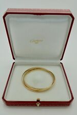 Authentic Vintage Cartier Trinity Bracelet 18k White Rose Yellow Gold in Case