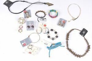 20 x Jewellery job lot random rings necklaces bracelets original costume mixed