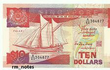 "SINGAPORE  $10  Ship Series HTT Seal  A63_304877  ""UNC"""