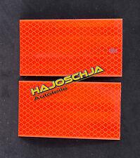 2 Stück Reflektorfolie rot 10 x 5,5 cm  Reflexfolie 3M Reflektorband