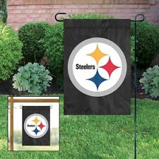 NEW Pittsburgh Steelers Embroidered Garden Window FLAG Black