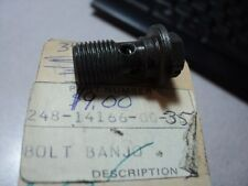 1969-76 YAMAHA AT CT LT YZ HT DT  FLOAT BOWL DRAIN BOLT BANJO NOS OEM 248-14166