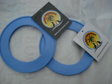 Durable PVC (BLUE SMALL)  Fling A Ring - Frisbee . Paws Paradise + Plutos Pets