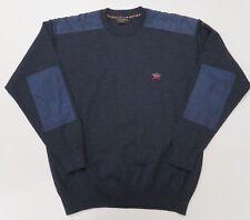 Paul & Shark Mens XL Wool Blend Sweater Blue Crew Neck Italy