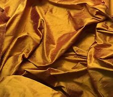 "Silk DUPIONI Fabric Gold Burgundy fat 1/4 18""x27"" remnant"
