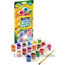 18 ct. Washable Paint Pots with Brush Classic Bold Colors Crayola Art Craft Play