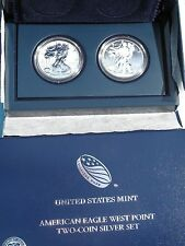 2013 WEST POINT TWO COIN SET ENHANCED FINISH / REVERSE PROOF ORIGINAL PACKAGING