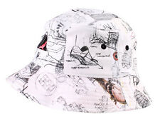 Staple New York NY Pigeon Sketch White 100% Cotton Bucket 1504C2922 Hat NWT