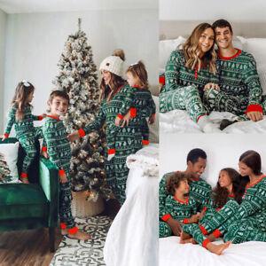 2021 Family Matching Christmas Pyjamas Xmas Nightwear Pajamas PJs Festive Sets