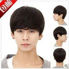 Handsome boys wig Korean short Natural black men's male Cosplay wigs