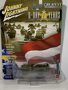 WWII Willys MB Jeep D Day 75th Year Johnny Lightning JLML003B