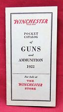 Winchester Pocket Catalog of Guns and Ammunition 1922