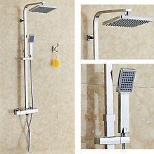 Cabeza de ducha termostática Mezcladora Doble Cromo Baño Baño expuestos Juego Válvulas