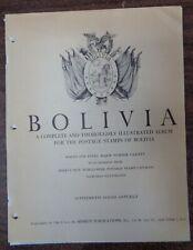 BOLIVIA MINKUS Specialty Scott International stamp album collection 1863-2011