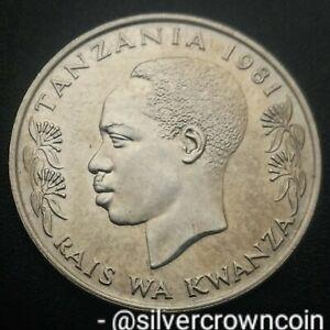 Tanzania 1 Shilingi 1981. KM#4. One Dollar Shilling coin. Hand Holding Torch.