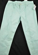 women's Liz Claiborne jeans size 12 green animal prin five pockets zipper front