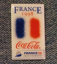 1998 World Cup Soccer~Football Flag Pin~France~Coca Cola~Coke~Sponsor