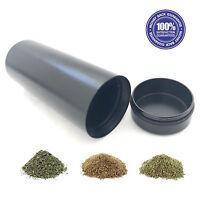 Large Stash Jar - Aluminum Herb  Jar  - Airtight Smell Proof Container - 1/2 oz