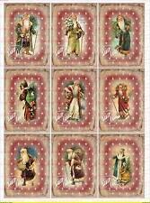Spielzeug 1689 Bügelbilder Bügelbild Santa Claus Weihnachten Christmas Merry Vintage A4 No