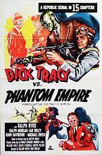 """DICK TRACY vs PHANTOM EMPIRE"" America's Greatest Detective - Movie poster"