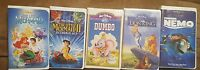 Lot of 5 Walt Disney Vhs