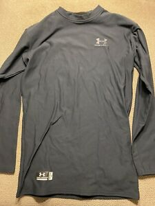 Men's Under Armour Compression Long Sleeve Shirt Black XL Cold Gear Tactical