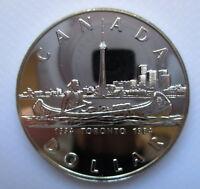 1984 CANADA TORONTO SESQUICENTENNIAL BRILLIANT UNCIRCULATED SILVER DOLLAR COIN