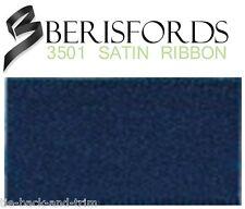 Berisfords Double Satin Ribbon 35 Colours 5 Widths 3 Lengths Navy #13 10mm X 2mtrs