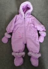 Adams Girls Purple Baby Snow Suit 11lb Mittens Booties Zip Once Upon A Time