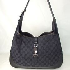 Authentic GUCCI GG Canvas Jackie Shoulder Bag Canvas/Leather[Used]