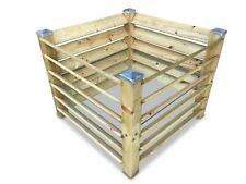 Holz-Komposter Brettkomposter mit 4 Pfostenkappen - 100x100x80 cm - ca. 650 L