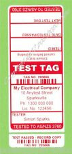1000 CUSTOM RED Printed Electrical Adhesive Test Tag Labels