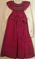 NWT Will' Beth Smocked Bishop Dress Formal Party Size 4T Magenta Fuschia Pink