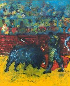 Ulpiano Carrasco (1961) - Sol y sombra - Óleo sobre lienzo - corrida toros