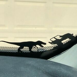 For Jeep T-rex sticker Tyrannosaurus Windshield Easter Egg Decal Wranger JK YJ