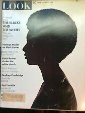 Look Magazine vintage January 7, 1969 Blacks and Whites issue  Jimi Hendrix