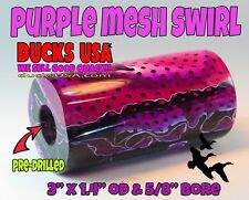 "Duck Call Acrylic Purple Mesh Exotic Swirl 2.7"" X 1.42"" Od With 5/8"" Bore"