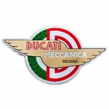 DUCATI MECCANICA Retro Reklame Blechschild Metallschild Schild Metal Sign NEU !!