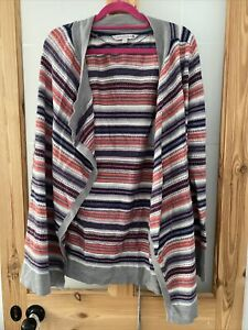 FAT FACE WOMENS WATERFALL CARDIGAN WITH BELT SIZE 16 IN NICE CONDITION