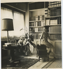 Vittoria Leone  Vintage silver print,Vittoria Leone, moglie del sesto Presiden